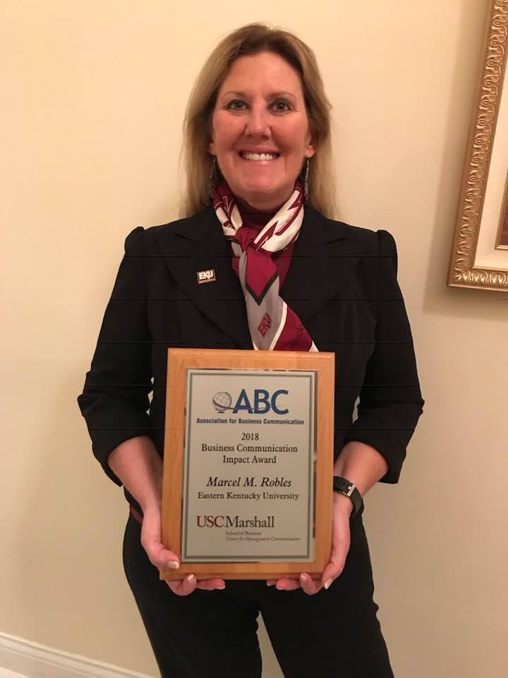 Robles Receives 2018 Business Communication Impact Award