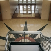 BTC front foyer from staircase landing