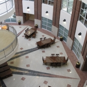 Atrium from 2nd floor hallway