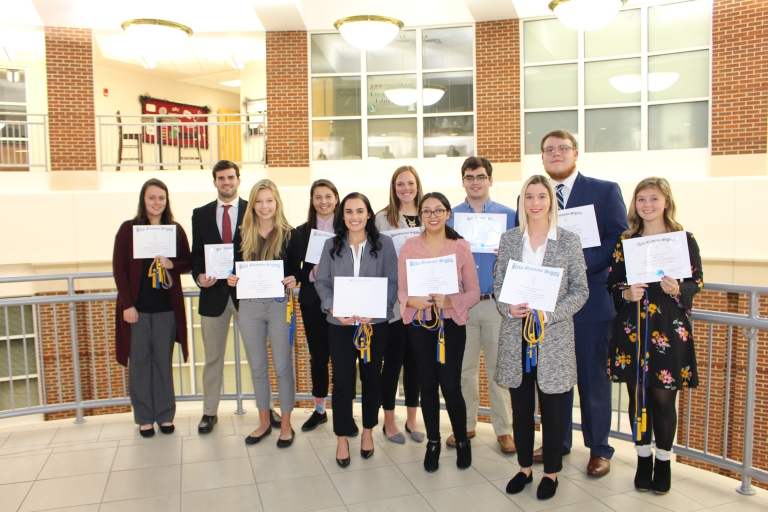 Fall 2018 Beta Gamma Sigma Inductees