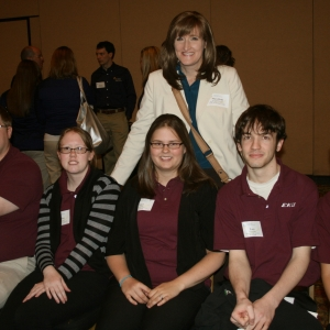 EKU PEAK team with advisor Dr. Holbrook (back)