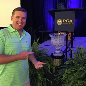 Martin with the PGA Professional Championship trophy