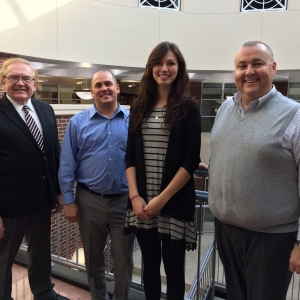 l-r: CBT Dean Tom Erekson, Rob Perry, Kaytlin Siegmundt, Kirby Easterling