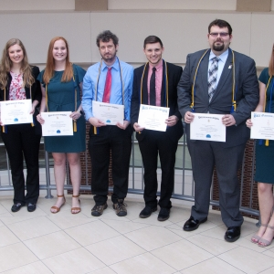 BGS inductees standing in a row with certificates