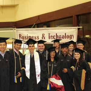MBA candidates prepare for commencement ceremony