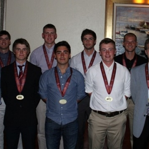 Patric Sundlof (front center) with 2014 All-OVC Team