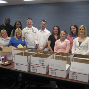 Maroon SHRM students prepare care packages