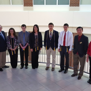 Fall 2015 Beta Gamma Sigma inductees with faculty