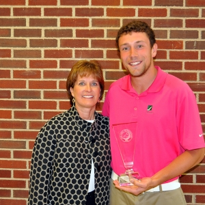 EKU PGA Golf Management Director Ms. Kim Kincer with Micah Voorhis