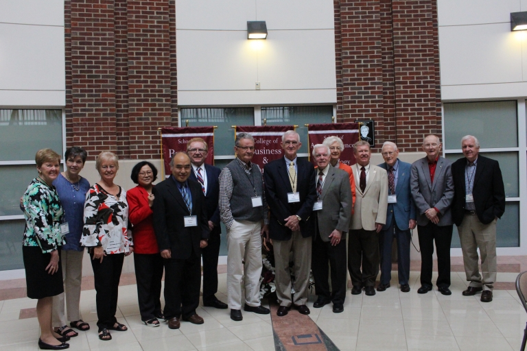 Retired faculty and staff at luncheon on April 12, 2019