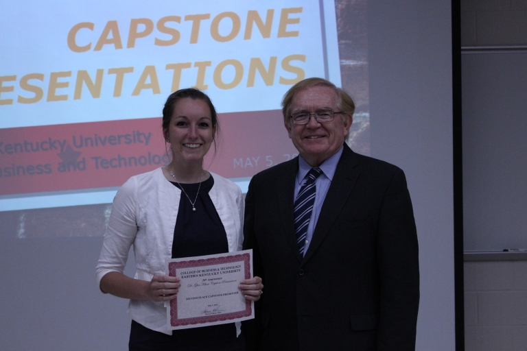 Dean Erekson with 2016 first place winner Julia Barney