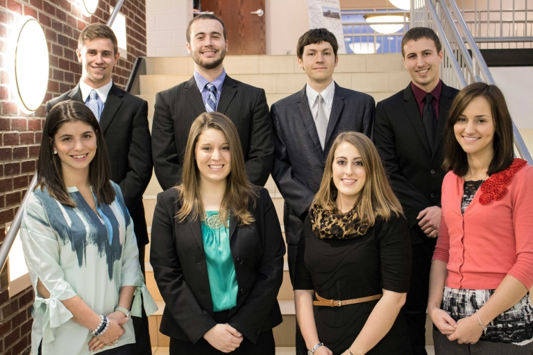 Beta Gamma Sigma inductees for the fall 2014 semester