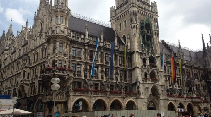 Neues Rathaus (New Town Hall), home of the Glockenspiel in Munich