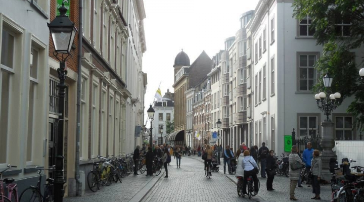 A photo from the city center of Breda, Netherlands