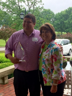 Ray Moehlman (l) with PGM Director Kim Kincer