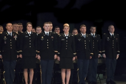 Spring 2017 ROTC newly commissioned officers