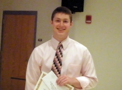 2012 Capstone Presentation winner Jake Higgins