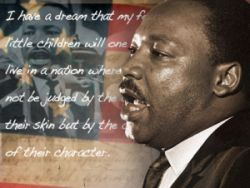Martin Luther King Jr Day graphic