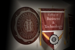 EKU seal and banner for the College of Business and Technology