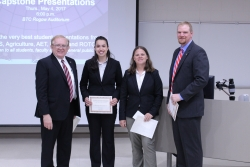 Dean Erekson (left) with the winning Agriculture team