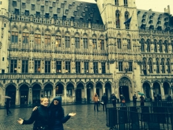 Joanna in Brussels.  It is always rainy, so best to be prepared!