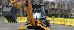 Will Rogers in the backhoe operation competition