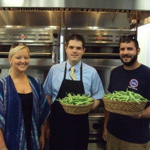 (l-r): Angela Abney (EKU Red Barn Garden student employee), Dr. Nathan Stokes (A