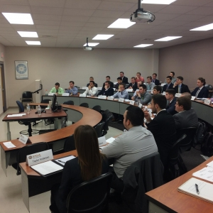 Darrell Crall speaks with EKU PGM students