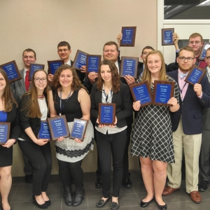 EKU PBL students pose with their trophies