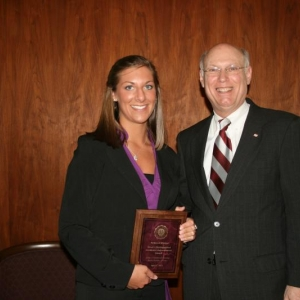 Dean's Distinguished Academic Achievement Award recipient, Ms. Rebecca Minton