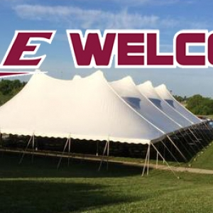 Big E Welcome under the big top