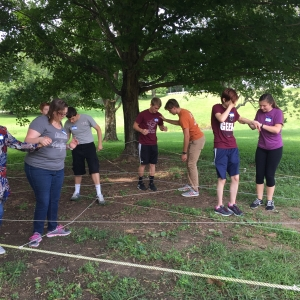 Outdoor team building activity
