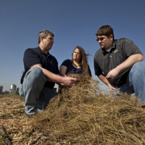 Dr. Llewellen in the field with EKU students
