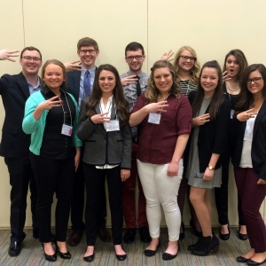 EKU Public Relations students at PRSSA conference