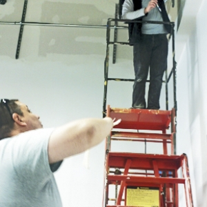 EKU students help install wiring and communication systems