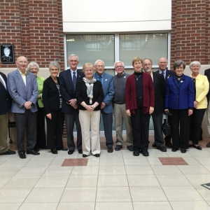 Retired College of Business faculty and staff at the annual spring luncheon