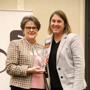 Picture of Sharron Townsend Receiving the Beth K. Fields Award