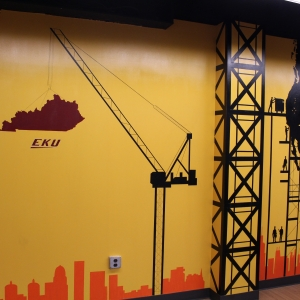 Mural in EKU's Construction Management suite
