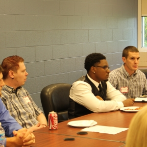 Students collaborate with county officials