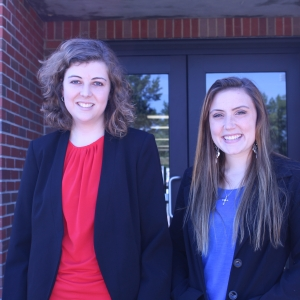 Bethany McKinney, National Secretary, and Sydney Kleinert, National President