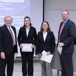 Dean Erekson (left) with the 2017 winning Agriculture team