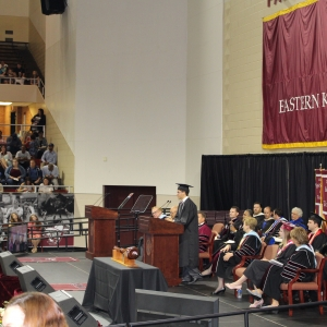 Ted Herr speaks for the class of 2017