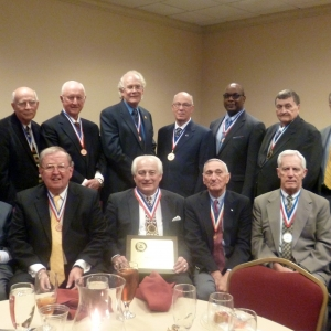 Ron House (center front row) surrounded by previous Medal of Honor recipients.