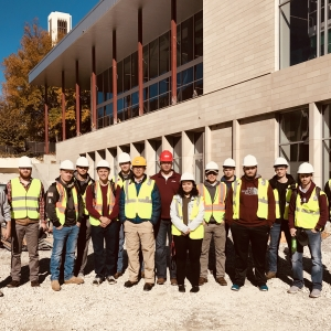 EKU Construction Management students tour EKU's New Case Dining Hall