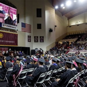 CBT spring commencement in EKU's Alumni Coliseum