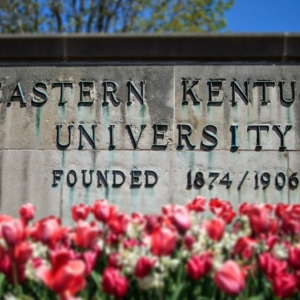 Eastern Kentucky University sign