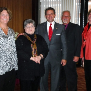 Staff Emeriti with EKU President Benson
