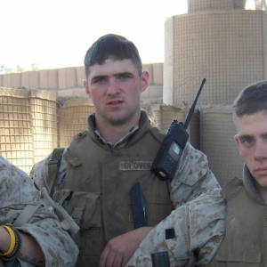 A younger Stofleth, right, during his days with the U.S. Marines