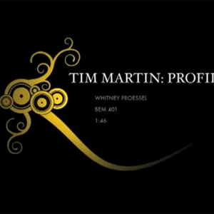 Tim Martin Profile: video splash screen