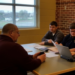 EKU accounting students work with VITA clients to prepare their tax returns